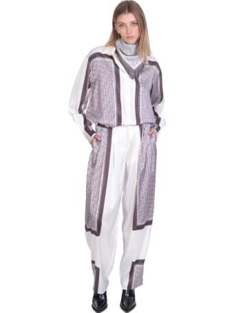 Magda Butrym Shirt In White Silk