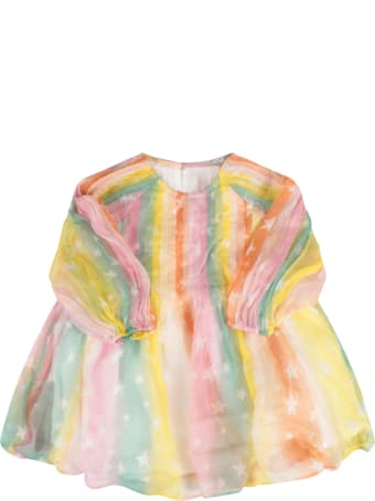 Stella McCartney Kids Multicolor Dress For Baby Girl With Stars
