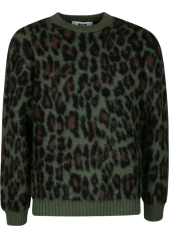 MSGM Animal Knit Sweater