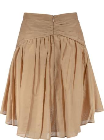 N.21 Ribbed Waist Double-pocket Skirt
