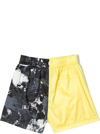 Marcelo Burlon Yellow And Black Swim Shorts