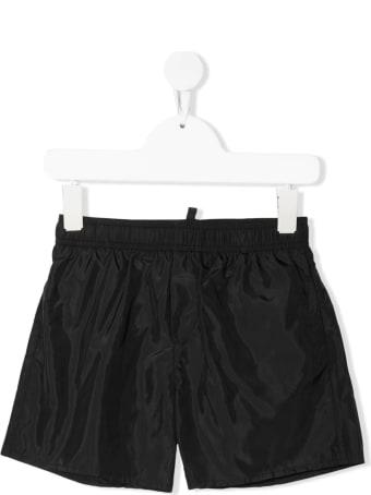 Dsquared2 Black D2kids Boxer Logo Swim Shorts