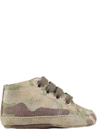 Gallucci Green Shoes For Baby Boy