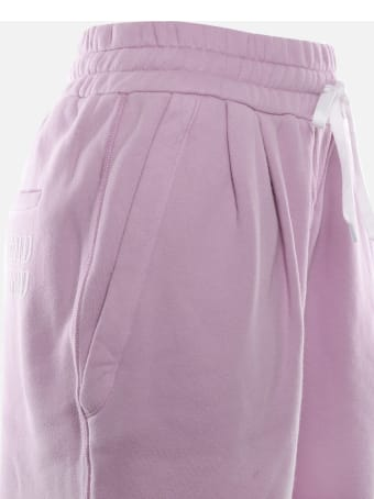 Miu Miu Cotton Trousers With Logo Print