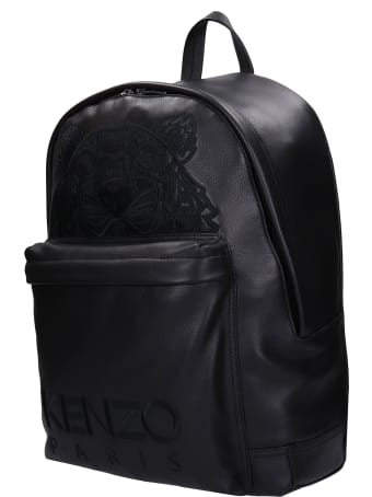 Kenzo Backpack In Black Leather