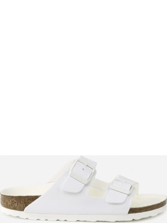 Birkenstock White Arizona Triples Slippers