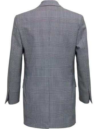 Tonello Single Breasted  Grey Wool Blazer