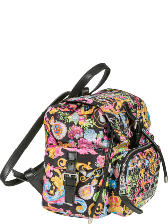 Versace Jeans Couture Eyelet Motif Printed Backpack
