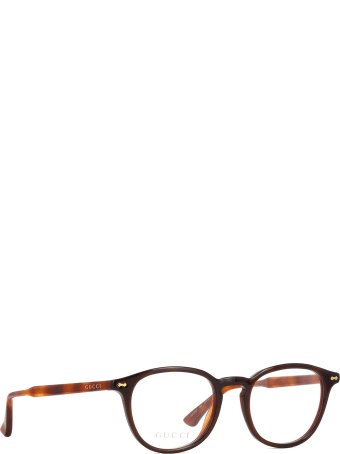 Gucci Gucci Gg0187o Havana Glasses