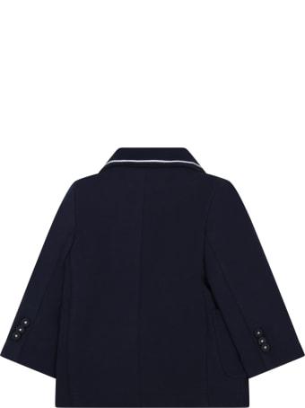 Hugo Boss Blue Jacket For Babyboy With Logo