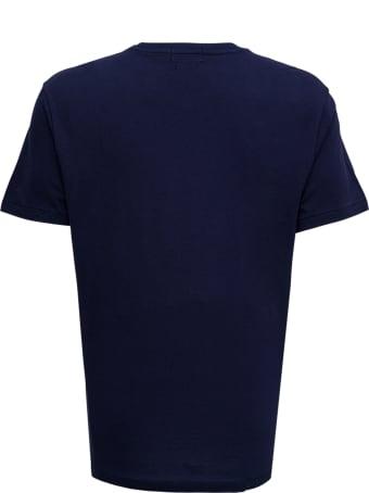 Polo Ralph Lauren Blue Cotton T-shirt With Logo Print