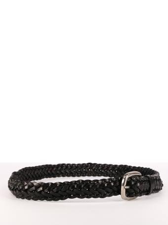 Golden Goose Leather Braided Belt