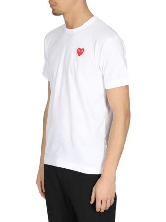 Comme des Garçons Shirt Boy Red Heart Patch Tee