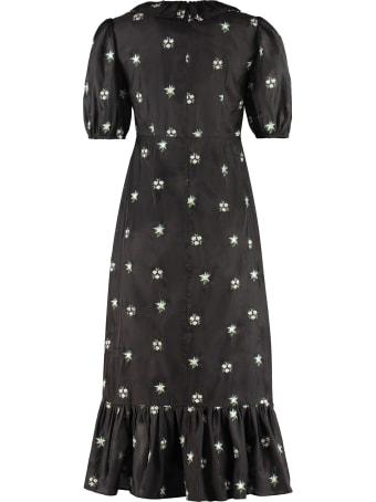Shrimps Oakley Embroidered Midi Dress