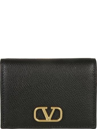Valentino Garavani Logo Snap-lock Wallet
