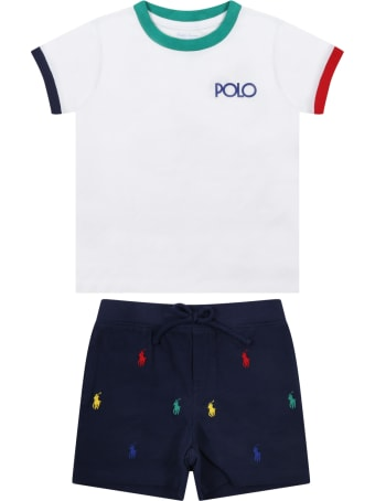 Ralph Lauren Multicolor Set For Baby Boy