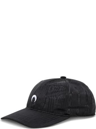 Marine Serre Moon Black Cotton Hat