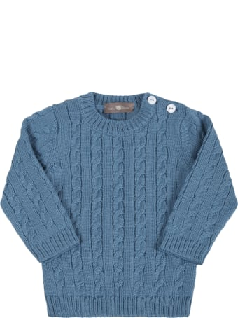 Little Bear Light Blue Sweater For Baby Boy