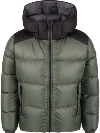 Colmar Green Jacket For Kids With Logo
