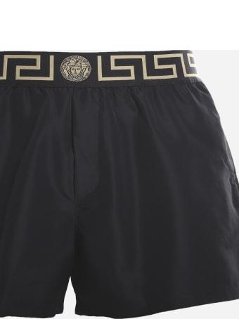 Versace Medusa Motif Nylon Swim Shorts