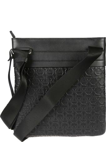 Salvatore Ferragamo Travel Embossed Shoulder Bag