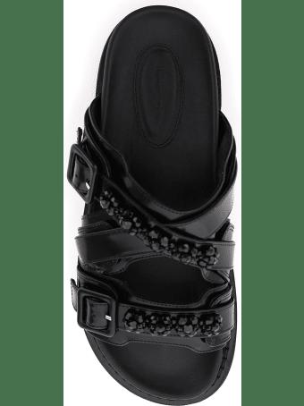 Simone Rocha Embellished Leather Mules