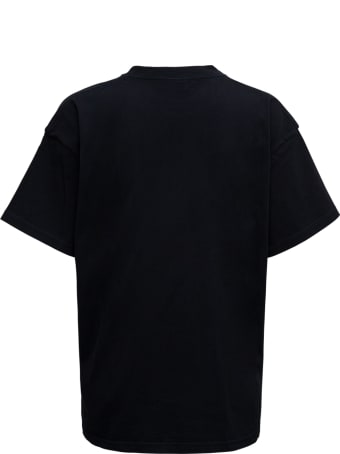 Balenciaga Black Cotton T-shirt With Vintage College Logo