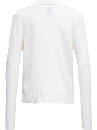 Allude White Cashmere Sweater