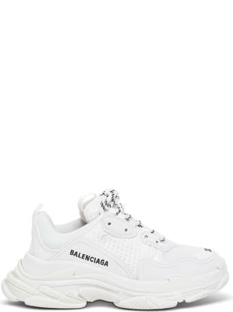 Balenciaga Triple S White Sneakerswith Logo