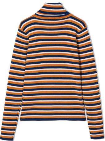 Gucci Children's Gucci Stripe Wool Polo Neck
