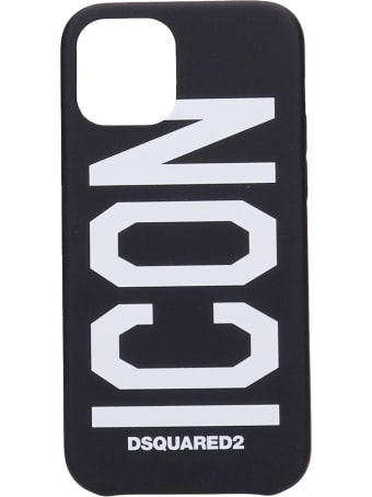 Dsquared2 Iphone 12 Pro Cover In Black Silicone