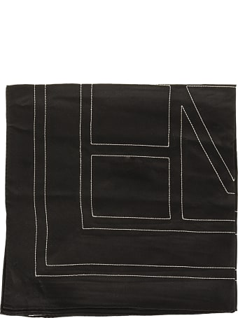 Totême Embroidered Monogram Silk Scarf