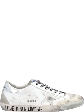 Golden Goose Super-star Sneakers With White Star And Handwritten Lettering On The Foxing