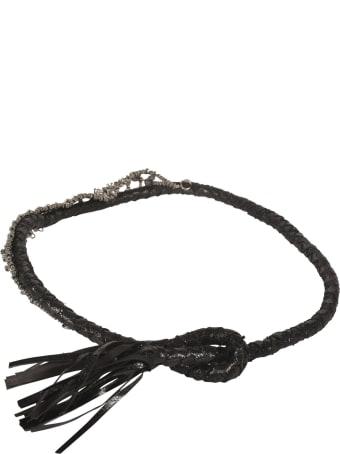 Mes Demoiselles Crystal Embellished Tassel Belt
