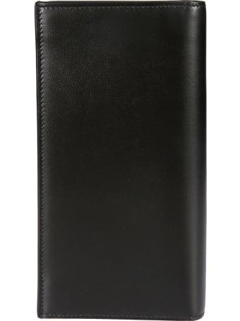 Saint Laurent Initials Logo Stand-up Billfold Wallet