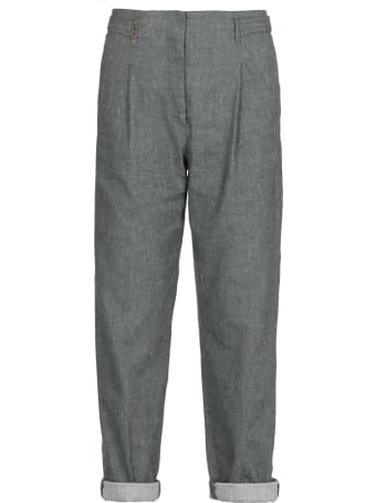 Peserico Linen And Cotton Blend Pants