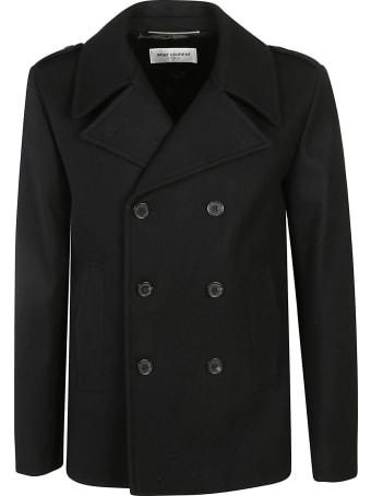Saint Laurent Regular Fit Pea Coat