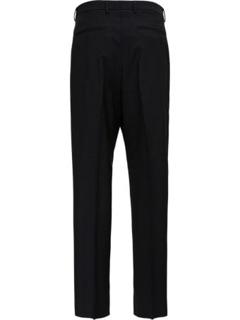 Valentino Black Mohair Wool Blend Pants
