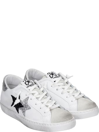 2Star Sneakers In White Leather