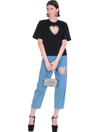 AREA T-shirt In Black Rayon