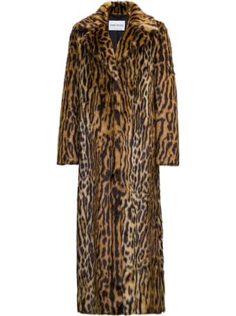 STAND STUDIO Kylie Long Coat With Animalier Print