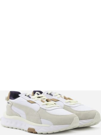 Puma Select Wild Rider Sneakers In Textured Leather