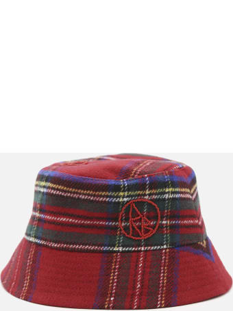 Ruslan Baginskiy Bucket Hat In Wool Blend With All-over Check Pattern