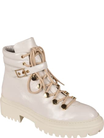 L'Autre Chose Padded Detail Lace-up Ankle Boots