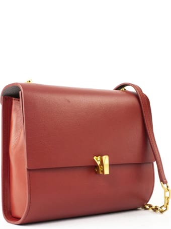 the VOLON Gabi Red Shoulder Bag