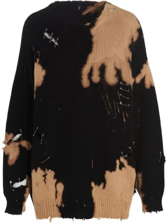 R13 'bleached Destroy' Sweater