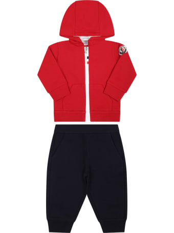 Moncler Multicolor Tracksuit For Baby Boy With Iconic Patch