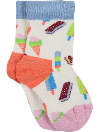 Happy Socks Multicolor Set For Baby Kids With Fruit