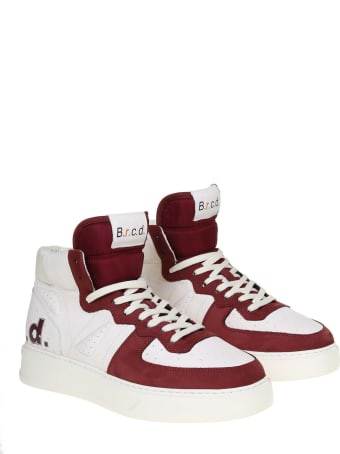 Barracuda Phoenix Sneakers In White And Burgundy Leather