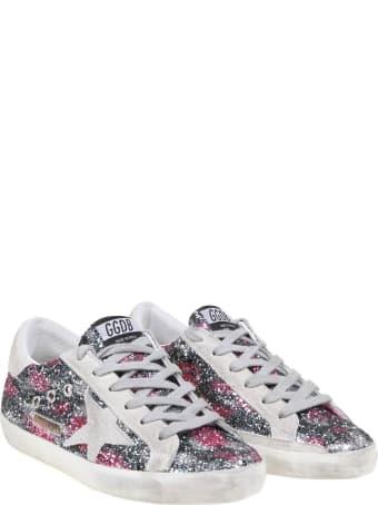 Golden Goose Super Star Sneakers In Glitter Leopard